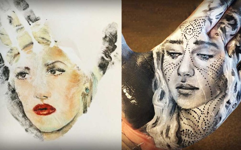 This Artist Creates Amazing Realistic Portraits On The Palm Of His Hand