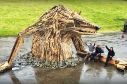 Large Sculptures Out Of Scrap Wood Created By Artist Thomas Dambo