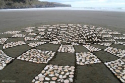 Two Artists Pair Up To Create Some Mind-Bending Art On The Beach