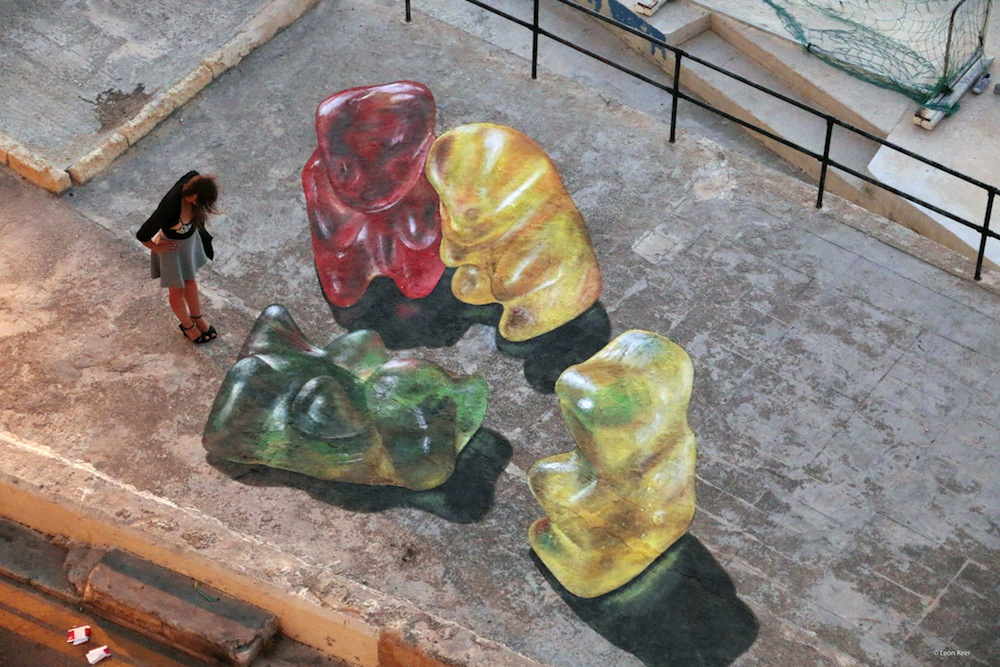 Malta festival art gummy bears