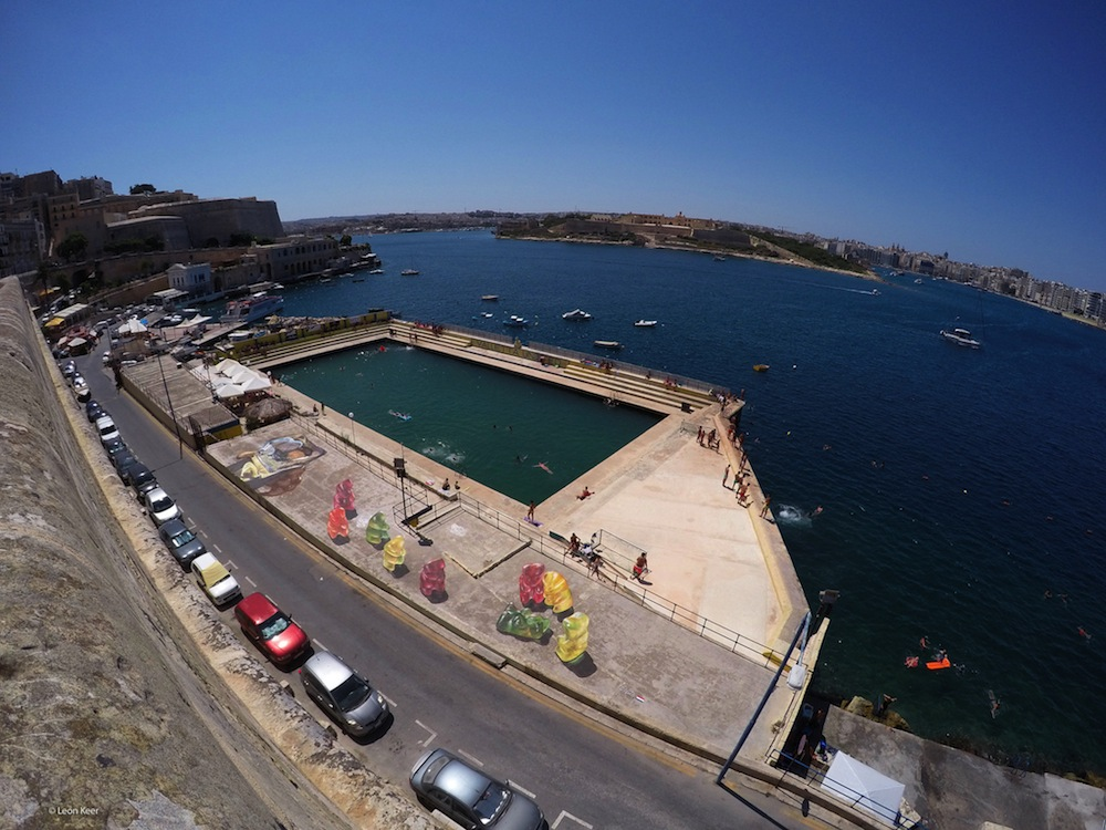 Malta festival art bay full view