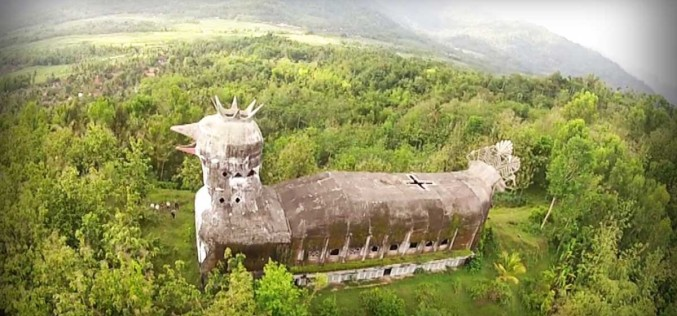 An Abandoned Indonesian Church Shaped Like a Large Chicken