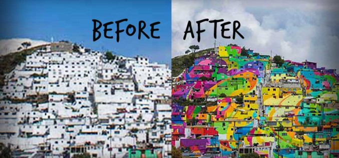 Rainbow Mural Transforms This Town Both Visually And Socially