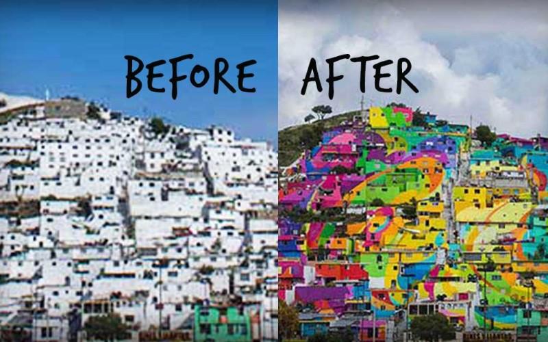 Rainbow Mural Transforms This Town Both Visually And Socially