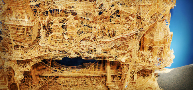 A Sculpture Made From 3,000 Toothpicks