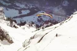 "Watch These Dare Devil SpeedFliers Play ""Follow The Leader"" In The Skies Above Switzerland!"